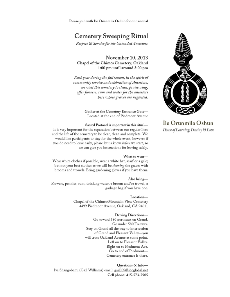 info for Cemetery Ritual