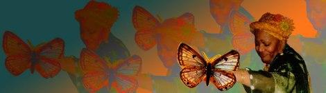 Iya Oshun Oshogbo and butterflies