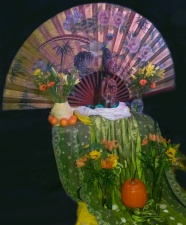 Oshun , her fan and pumpkin