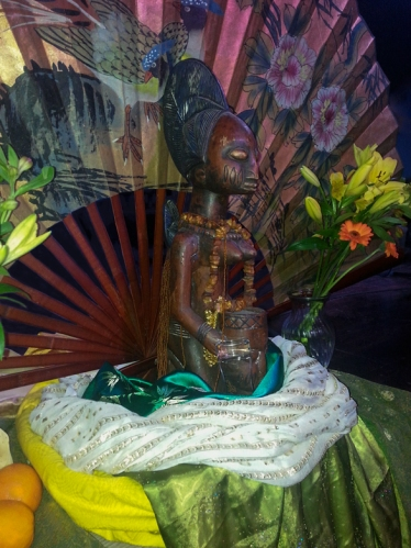 Oshun on her shrine at the 2014 Waters Ritual: Moisture the Water Cycle Continues