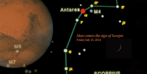 New Moon Leo chapter 3, Mars enters the sign of Scorpio after 8 months in Libra