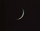 crescent moon waxing