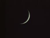 crescent moon waxing