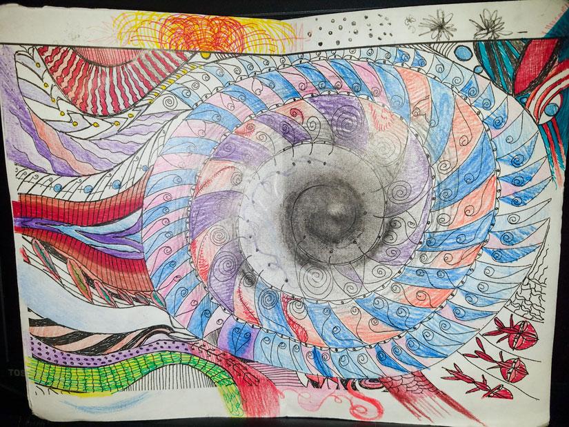 Janessa Minjarez, spiral page, © 2017