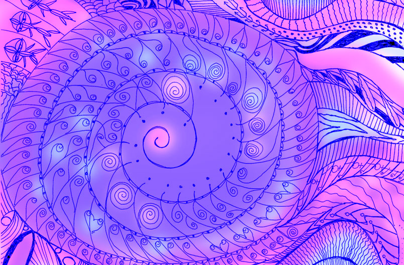 Sara Babbitt, spiral page, © 2017